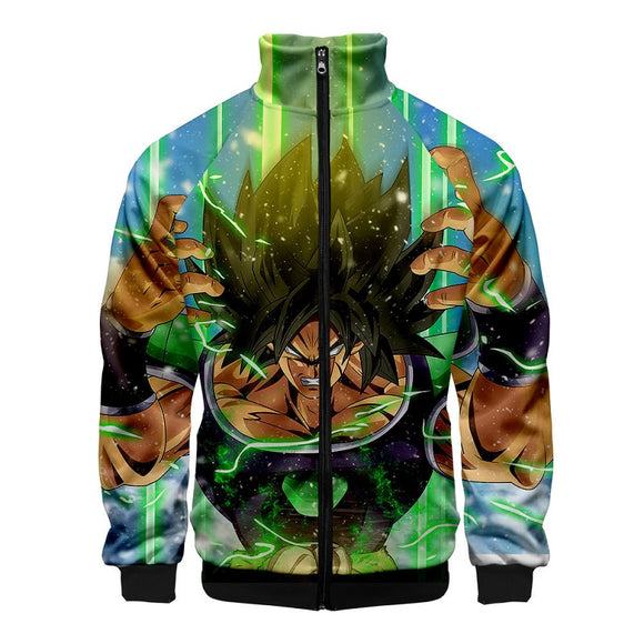 Anime Dragon Ball Z Broly  Unisex 3D Print Zipper Hoodie Jacket