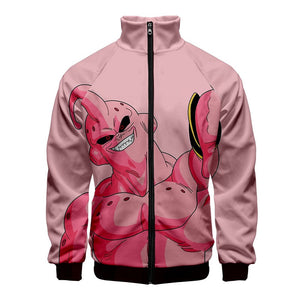 Anime Dragon Ball Z Majin Buu  Unisex 3D Print Zipper Hoodie Jacket
