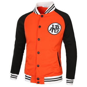 Anime Dragon Ball Z  Super Saiyan Goku Baseball Jacket