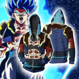 Anime Dragon Ball Z  Super Saiyan Vegeta Blue Zip Up Jacket