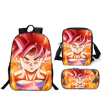 Dragon Ball Z Backpack With Lunch Box and Pencil Case Set For Boys Girls