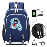 Dragon Ball Z Backpack School Backpack For Boys Girls With USB Charging Port