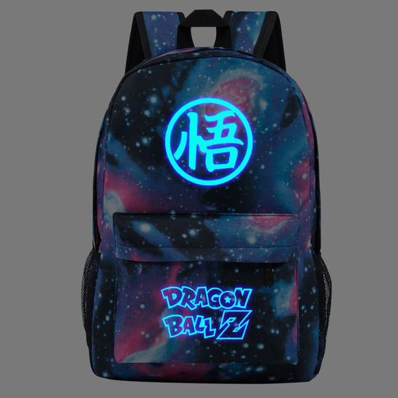 Dragon Ball Z Backpack School Backpack For Boys Girls Glow in Dark