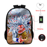 Dragon Ball Z Backpack Full Print School Backpack For Youth With USB Charging Port