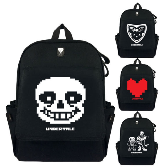 Undertale  Backpack School Bags  For Girls and Boys Sans Heart Frisk