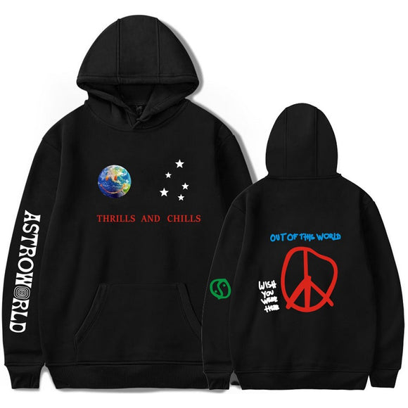 Travis Scotts Astroworld Fashion Pullover hoodies Unisex D