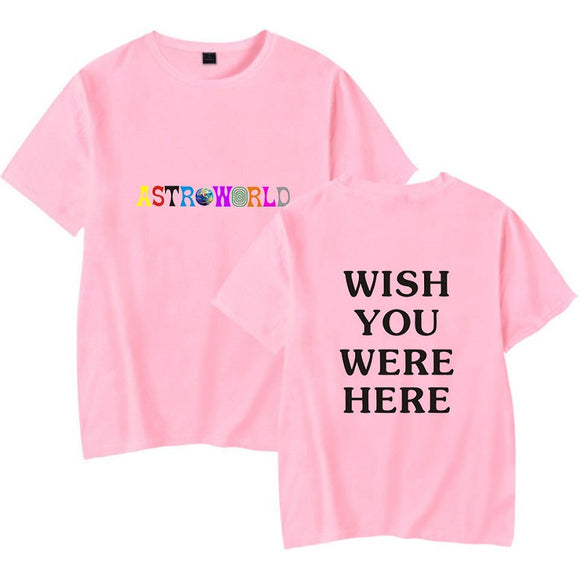 Travis Scotts Astroworld Round Neck Youth Teens T-shirt