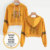 Travis Scotts Astroworld Grils Crop Top Pullover Hoodie