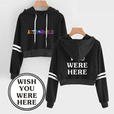 Travis Scotts Astroworld Grils Crop Top Youth Teens Pullover Hoodie
