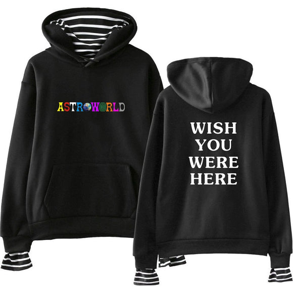 Travis Scotts Astroworld Fake Two Pieces Youth Teens Hoodies