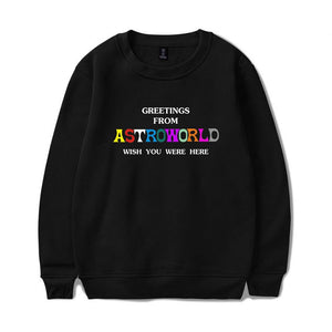 Travis Scotts Astroworld Round Neck Letter Print Hoodies