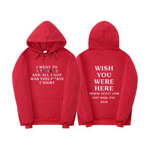 Travis Scott Astroworld Wish You Were Here Pullover Hoddies
