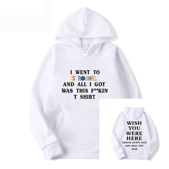 Travis Scott AstroWorld Youth Teens Casual Pullover Hoodies Letter Print