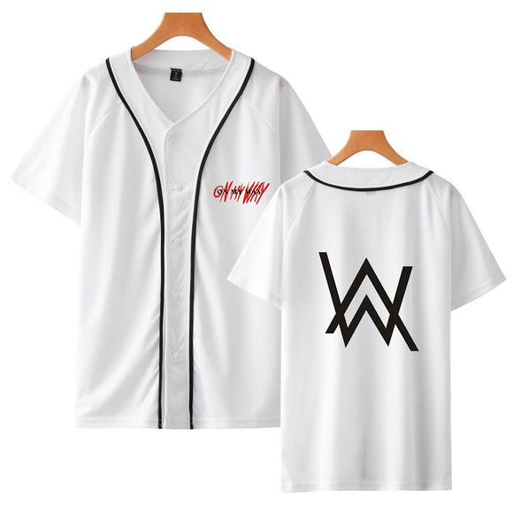 Alan Walker Baseball Jersey With Full Button