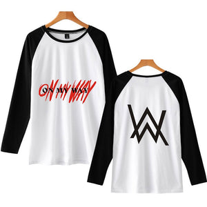 Alan Walker On My Way Raglan Long Sleeve T-shirt