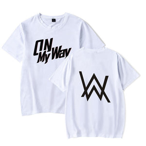 Alan Walker On My Way Short Sleeve T-shirt Cotton