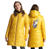 DJ Marshmello Womens Smile Print Ultra Light Slim White Duck Down Jacket