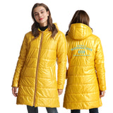 Riverdale 3D Print Slim Hooded White Duck Down Jacket