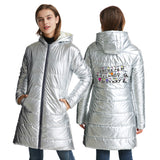 Stranger Things 3D White Print Long Sleeve White Duck Down Jacket