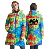 Hot Fashion DJ Marshmello Womens Long Warm Down Jacket With Zipper