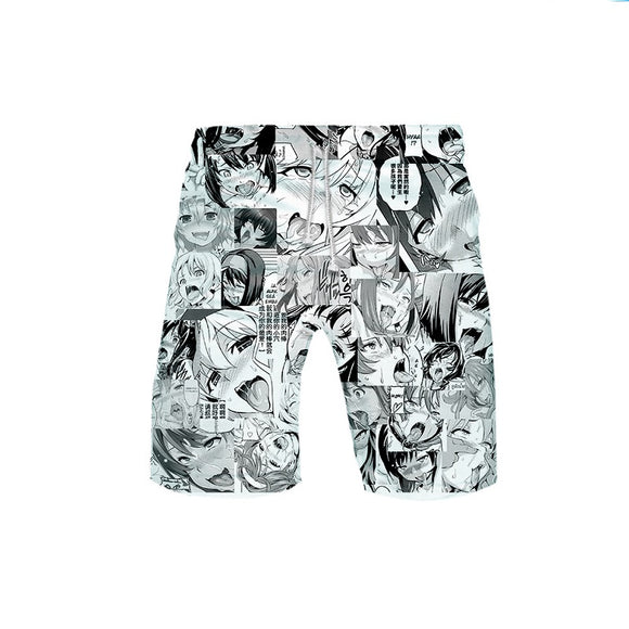Ahegao Casual Jogger Pants Sport Novelty Trousers Baggy Sweatpants with Drawstring