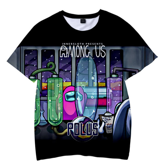 Among Us Unisex Short Sleeves Polyester Shirt