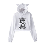 Riverdale Crop Top Hoodies Cat Ear Cat Girls Hoodies