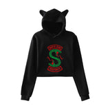 Riverdale Crop Top Hoodies Cat Ear Cat Girls Hoodies Sweatshirt