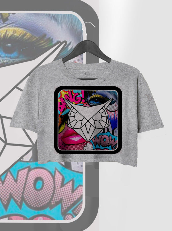 CROP TOP POP ART LOGO