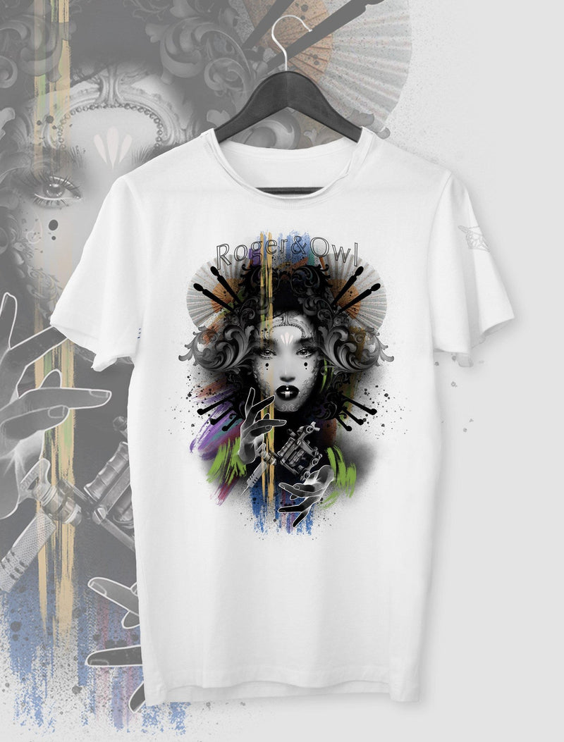T-SHIRT INK ART GEISHA