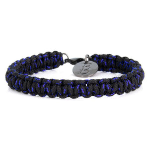 Mini Cord | Traditional Black & Blue - Bad-Ass Bracelets