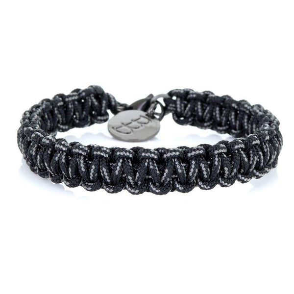 Mini Cord | Traditional Black & Grey - Bad-Ass Bracelets