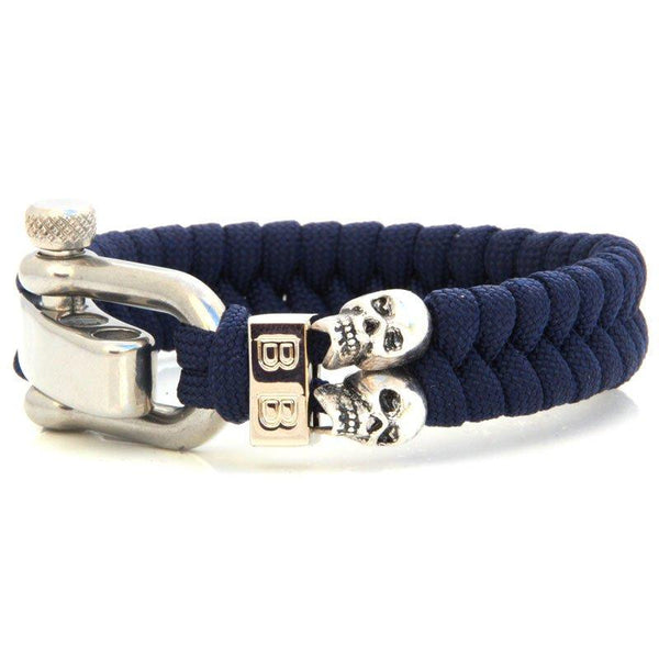 Steel & Cord | Blue Skulls - Bad-Ass Bracelets