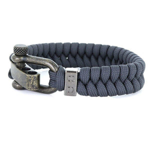 Steel & Cord | Essential Anthracite - Bad-Ass Bracelets