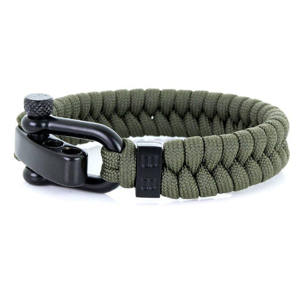 Steel & Cord | Essential Army Green - Bad-Ass Bracelets