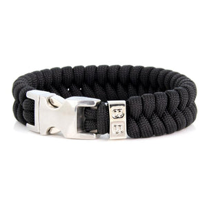 Steel & Cord | Essential Black & Silver - Bad-Ass Bracelets