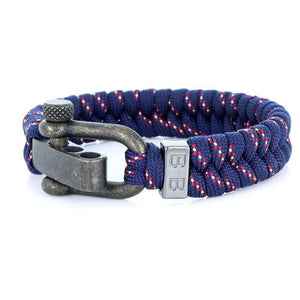 Steel & Cord | Essential Blue & Red - Bad-Ass Bracelets
