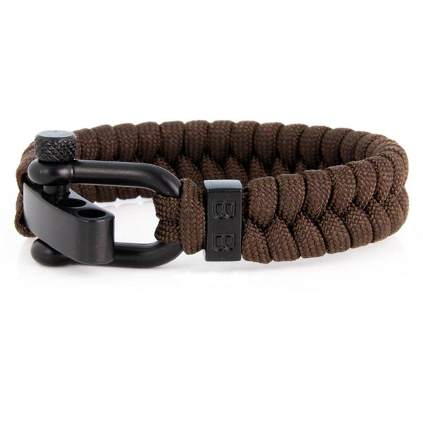 Steel & Cord | Essential Dark Brown - Bad-Ass Bracelets