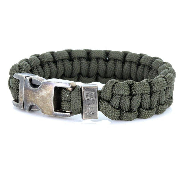 Steel & Cord | Traditional Army Green - Bad-Ass Bracelets