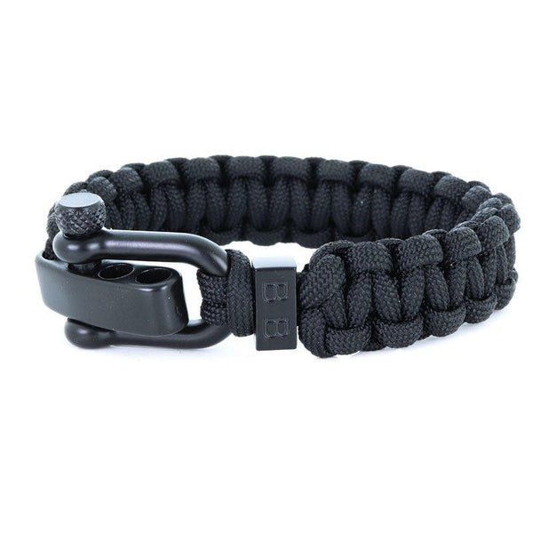 Steel & Cord | Traditional Black - Bad-Ass Bracelets