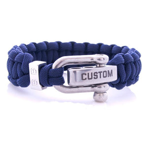 Steel & Cord | Traditional Blue - Bad-Ass Bracelets