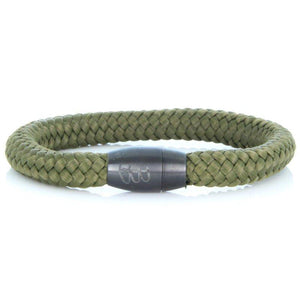 Steel & Rope | Fisherman Army Green - Bad-Ass Bracelets