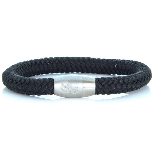 Steel & Rope | Fisherman Black & Silver - Bad-Ass Bracelets