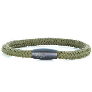 Steel & Rope | Sailor Army Green - Bad-Ass Bracelets