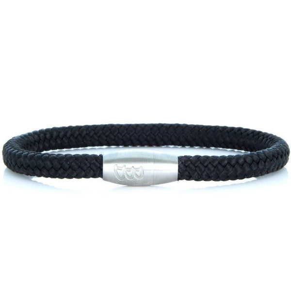 Steel & Rope | Sailor Black & Silver - Bad-Ass Bracelets