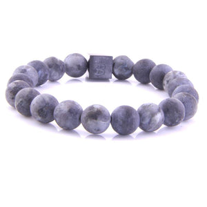 Steel & Stones | Big Stones Spectrolite - Bad-Ass Bracelets