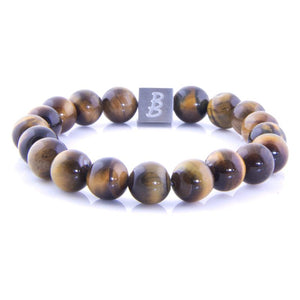 Steel & Stones | Big Stones Tiger Eye - Bad-Ass Bracelets