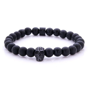 Steel & Stones | Black Skull - Bad-Ass Bracelets