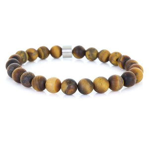 Steel & Stones | Tiger Eye Mat - Bad-Ass Bracelets