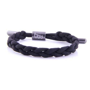Twisted Cord | Black - Bad-Ass Bracelets